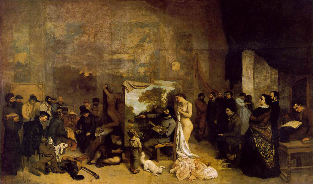 The Painter's Studio: A Real Allegory of a Seven Year Phase in my Artistic and Moral Life, by Gustave Courbet.