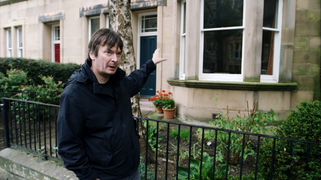 """That was my bedroom window,"" says writer Ian Rankin, pointing at the apartment he lived in during his student days. He decided that his character, police inspector John Rebus, would live across the street."
