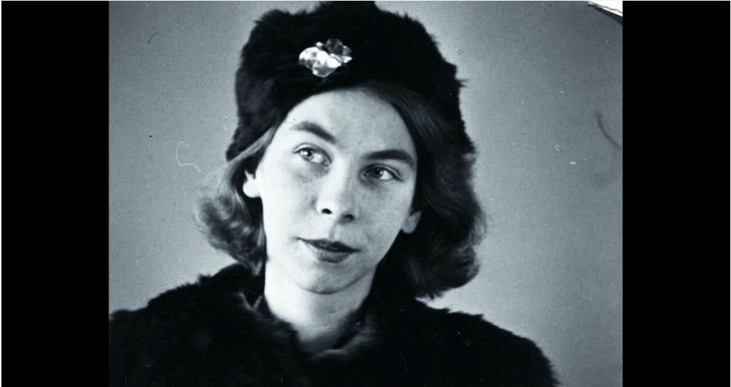 Artist and author Tove Jansson as a young adult, from the documentary film Escape From Moominville.