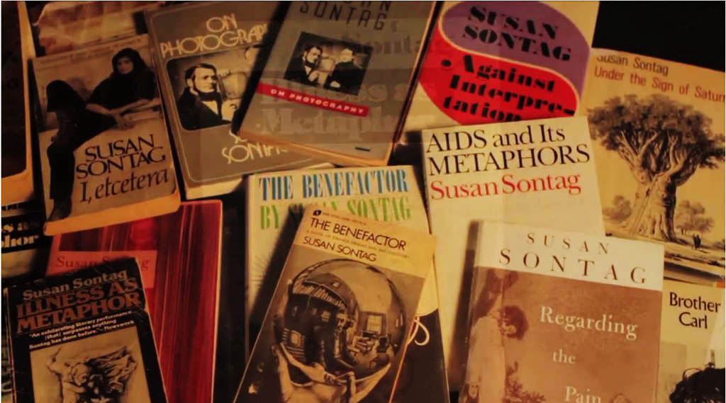 Susan Sontag wrote a lot of books! Regarding Susan Sontag, a documentary about the U.S. writer and intellectual, will be shown in Montreal on Monday, March 30, 2015, by Cinema Politica.