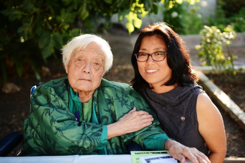 Philosopher, writer and activist Grace Lee Boggs, left, and filmmaker Grace Lee.