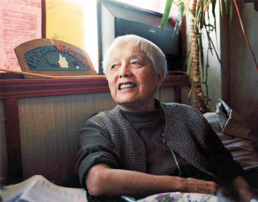 Philosopher, writer and activist Grace Lee Boggs in her Detroit home.