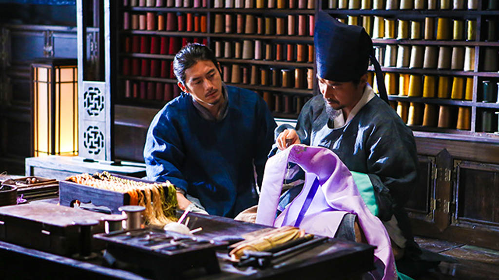 Go Soo, left, and Han Suk-kyu in the Korean film The Royal Tailor, one of 12 feature flms from South Korea being shown at the 2015 Fantasia International Film Festival in Montreal. The Royal Tailor is a period film with beautiful costumes and court intrigue.