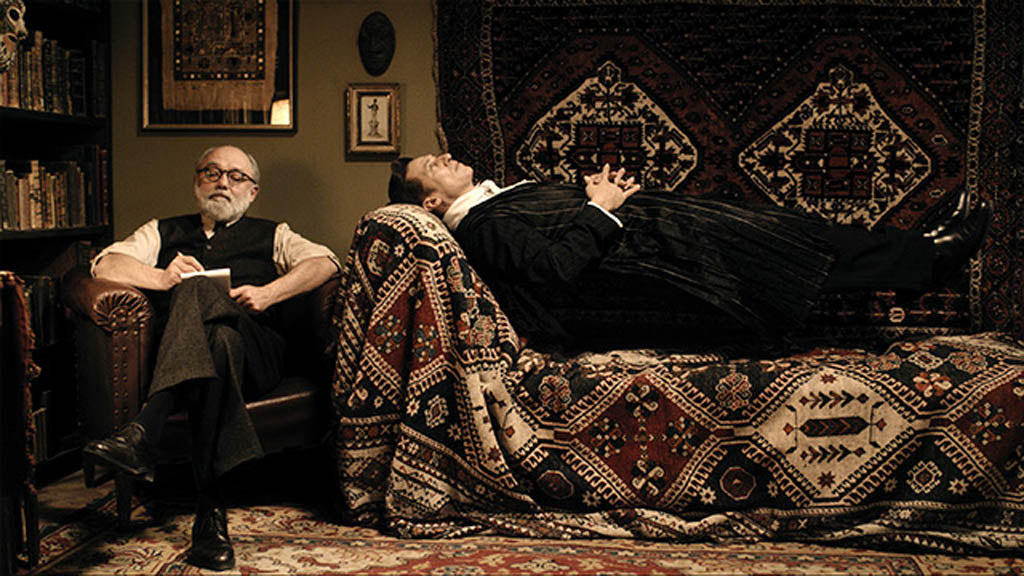A scene from the Austrian film Therapy for a Vampire (Der Vampir auf der Couch) which will be shown twice at the Fantasia International Film Festival. Are those carpets gorgeous, or what?