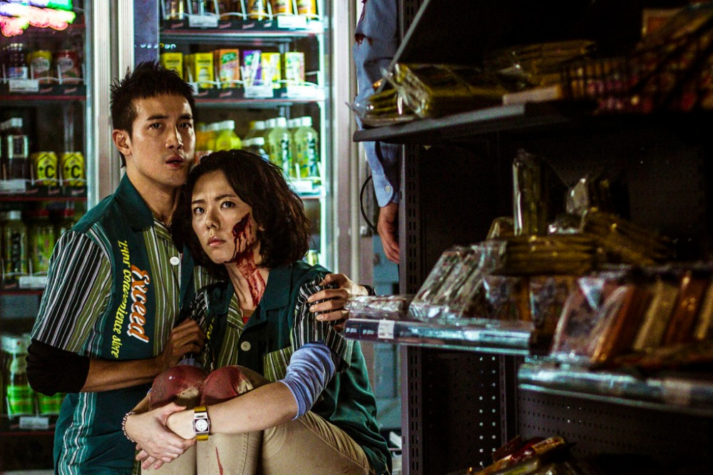 Derek Tsang, left, and J. Arie  in a scene from the Hong Kong film Robbery. They play convenience-store employees whose lives are in danger when they are help hostage in the store. Robbery will be shown at the 2015 edition of the Fantasia International Film Festival in Montreal.