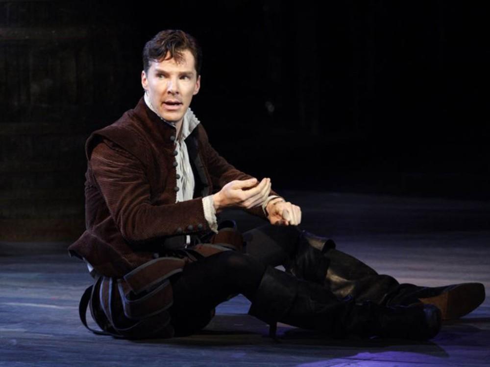 Benedict Cumberbatch as Hamlet.