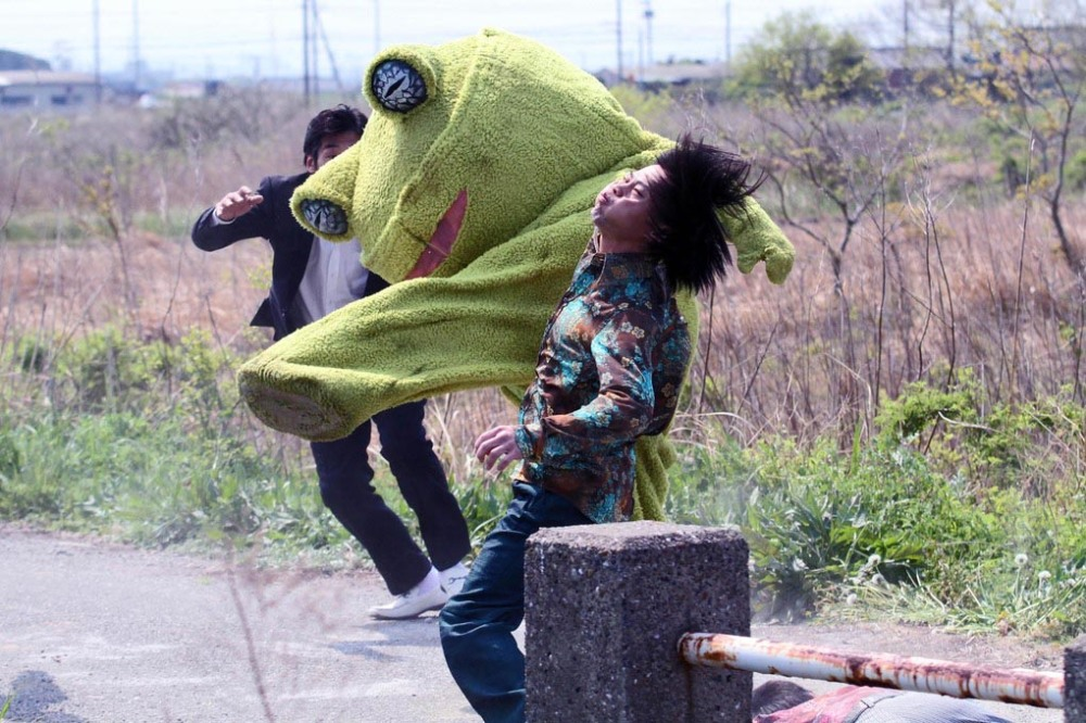 This frog packs a mean punch, and mean kicks. too, in Takashi Miike's film Yakuza Apocalypse. It's part of the lineup at Montreal's Festival du nouveau cinema.