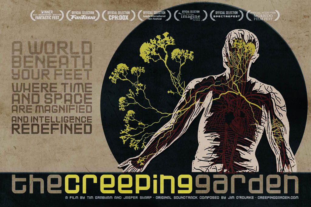 Poster for the documentary film The Creeping Garden. Note the reference to Montreal's Fantasia Film Festival in the upper left hand corner.