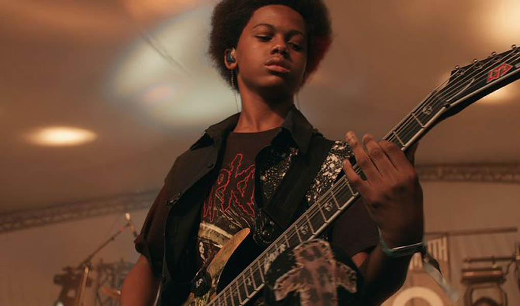 Malcolm Brickhouse of the heavy metal band Unlocking The Truth, in a scene from the documentary film Breaking a Monster. It's one of several films about music being shown at RIDM, MOntreal's documentary film festival.