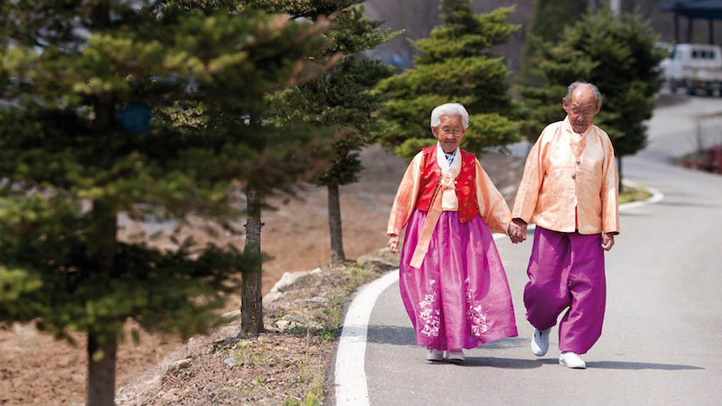 Kang Gye-yeol, left, is 89 and her husband, Jo Byeong-man is 98. They ust might be the cutest couple you have ever seen. You can see them in the Korean documentary film My Love, Don't Cross That River