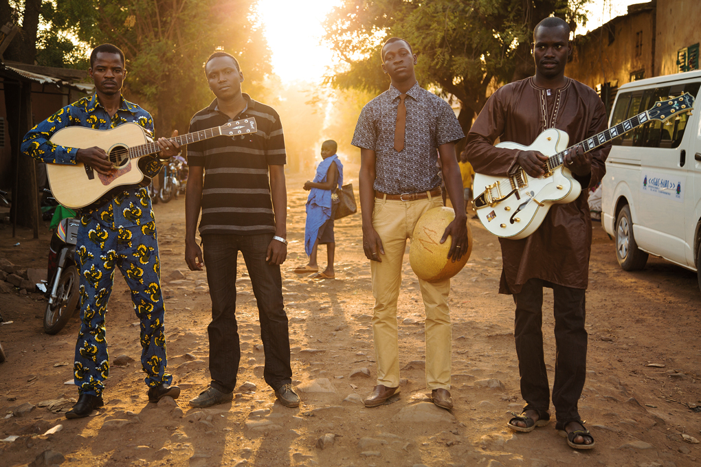 Members of the band Songhoy Blues are among the musicians who appear in the documentary film They Will Have To Kill Us First: Malian Music in Exile.