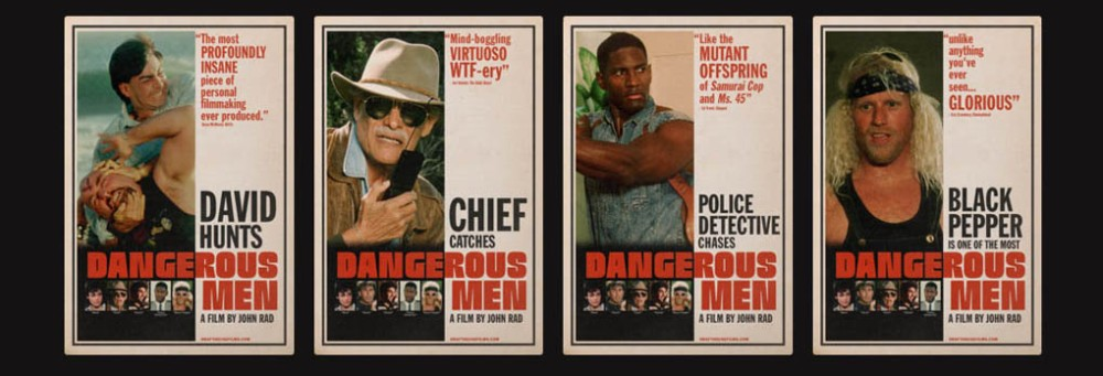 Poster for the cult fim Dangerous Men (Drafthouse Films)