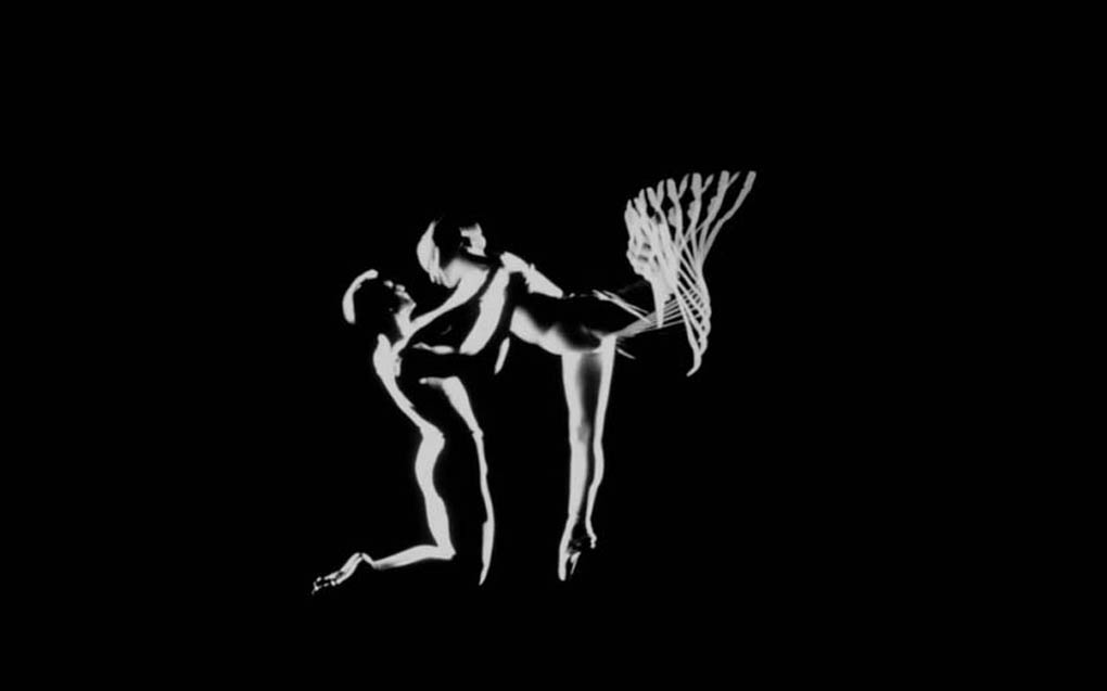 Vincent Warren and Margaret Mercier dance in Pas de deux, a film that Norman McLaren made for the National Film Board of Canada in 1968.