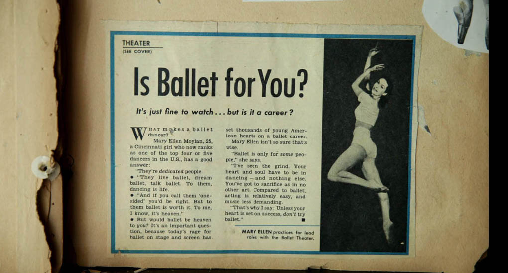 A page from Vincent Warren's ballet scrapbook. He was smitten by dance after he watched the 1948 film The Red Shoes.