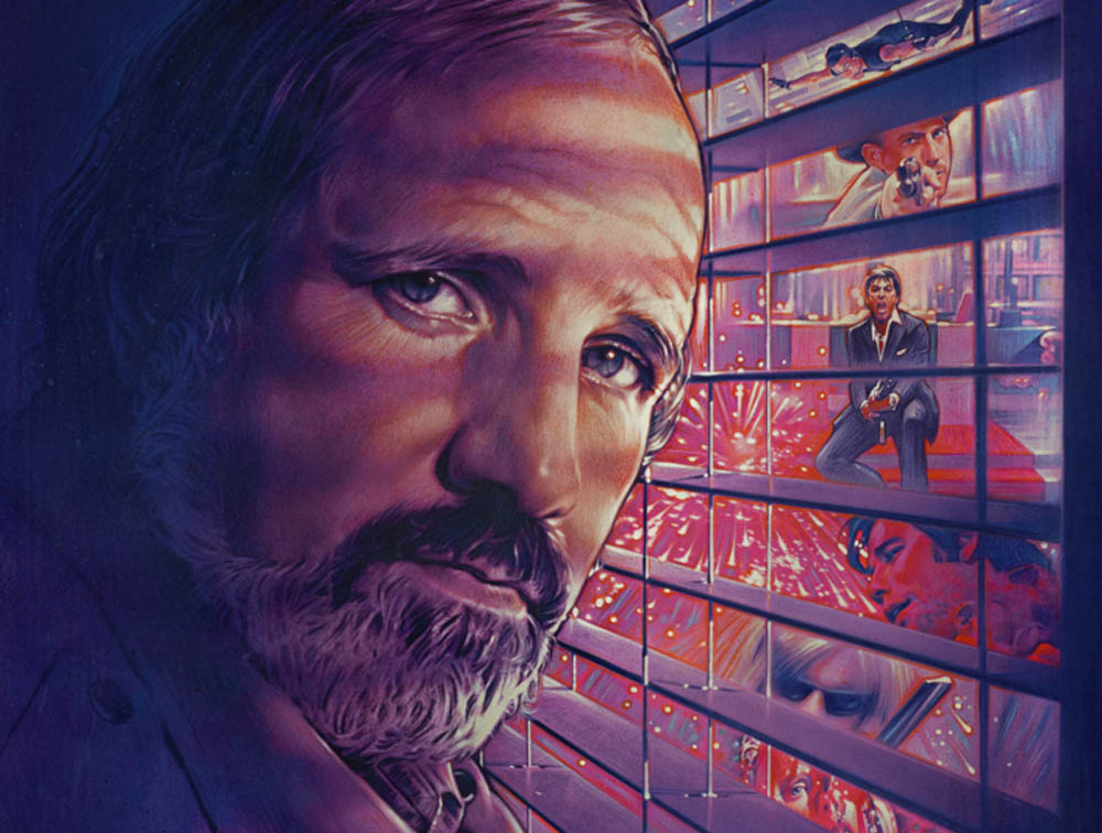 Detail from the poster for the documentary De Palma, directed by Noah Baumbach and Jake Paltrow.