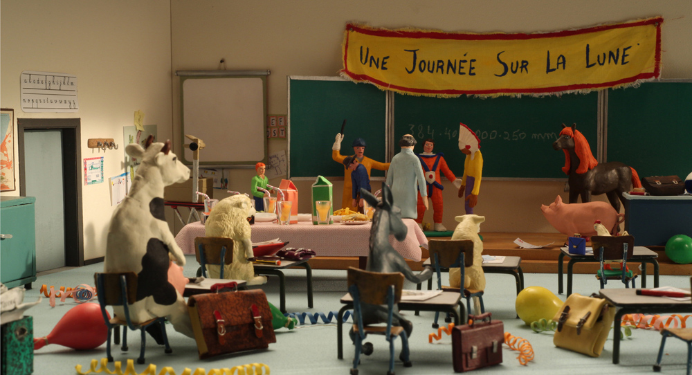 The characters Cowboy, Indian and Cheval from the animated epic Panique Au Village / A Town Called Panic appear in La rentrée des classes, which won the Jury Prize for a TV Special at the Festival international du film d'animation d'Annecy in June
