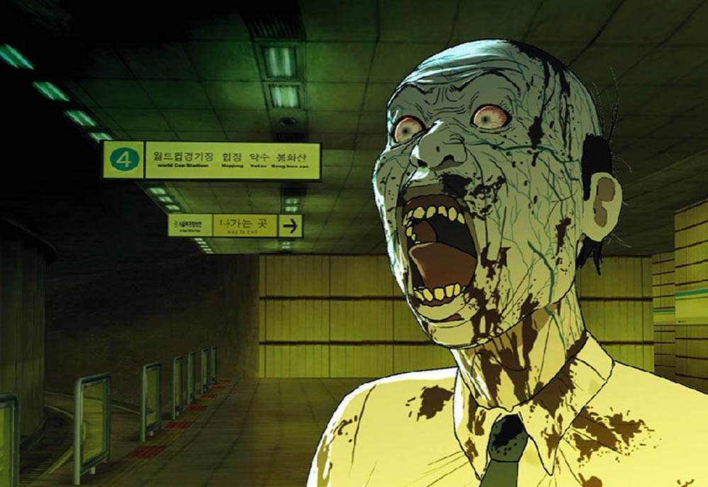 Arriving soon on a track near you - zombies! An image from the Korean animated film Seoul Station, written and directed by Yeon Sang-ho. The film is being presented at the Fantasia International Film Festival in Montreal.