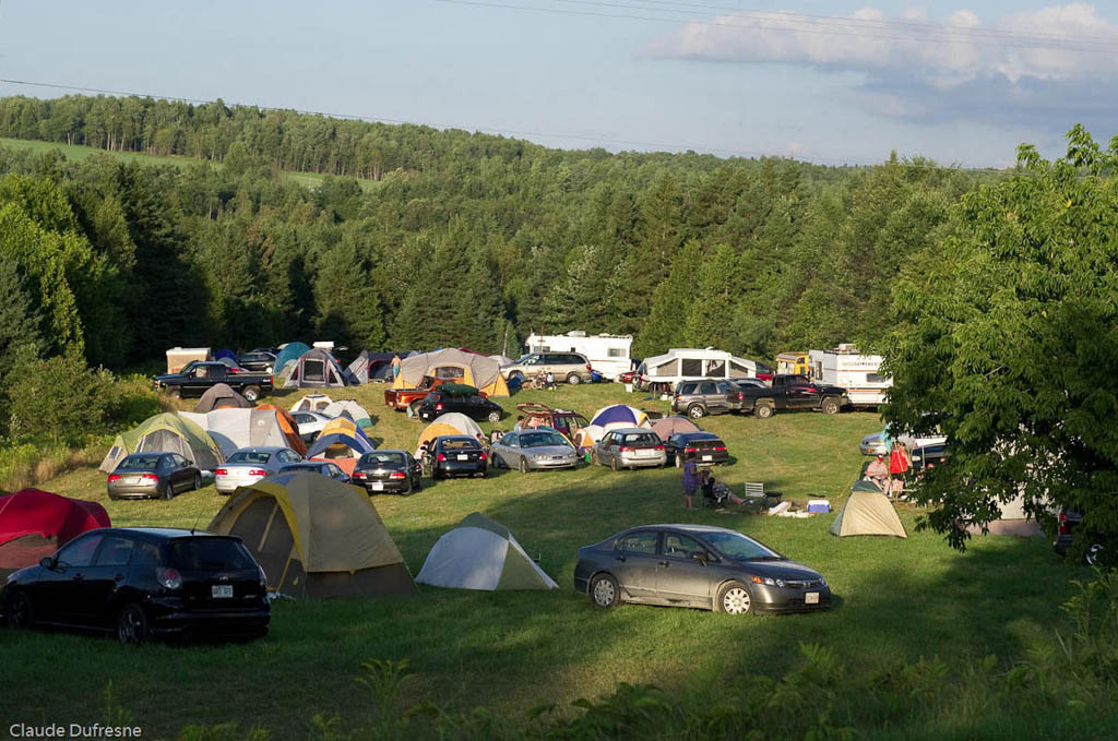 A ticket to ShazmFest includes use of this camp site among the trees. Claude Dufresne photo from the ShazamFest web site.