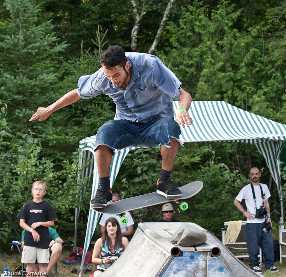 Skateboarding at an earlier edition of ShazamFest. Photo by Claude Dufresne.
