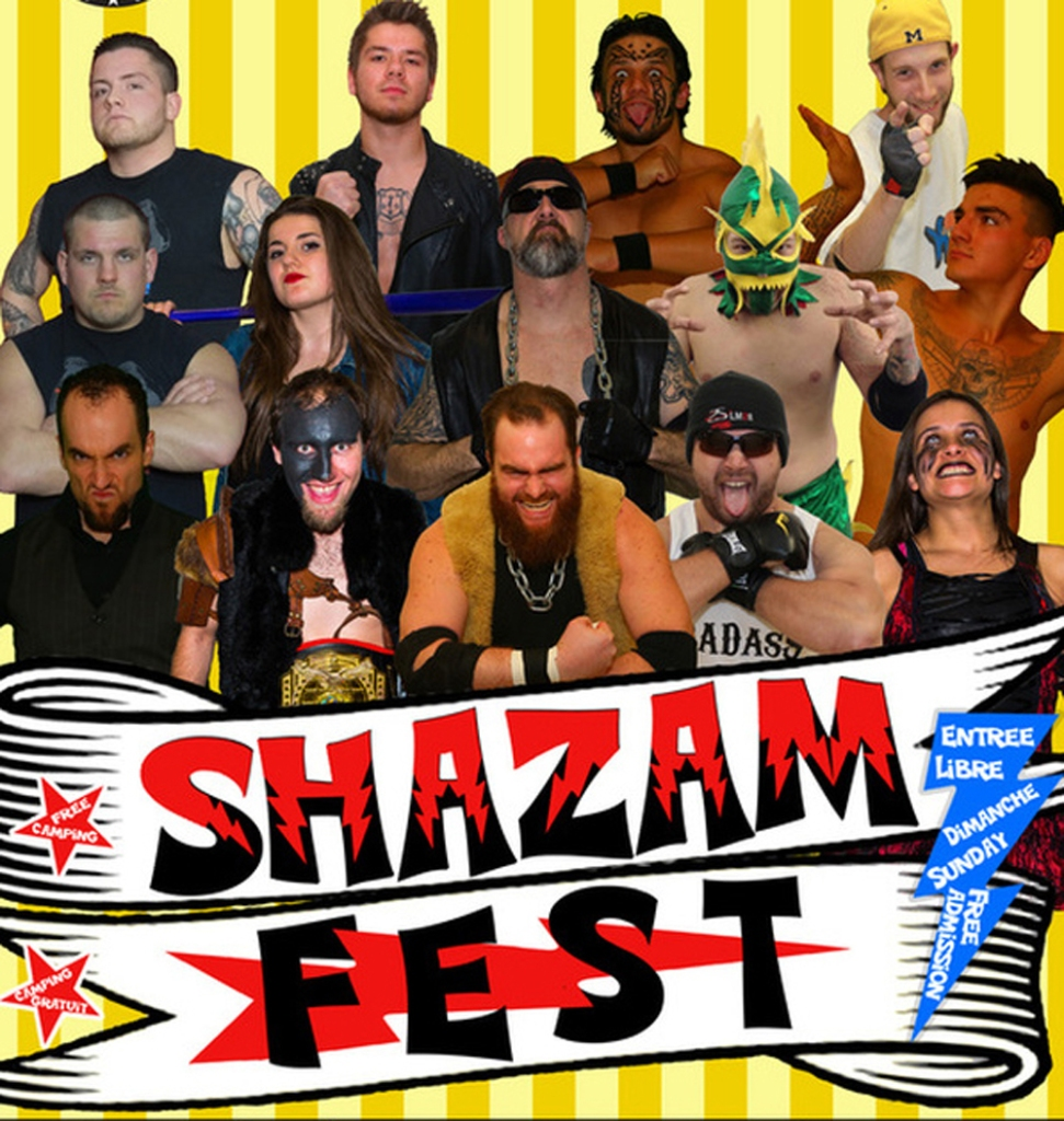 Wrestlers from the AcadŽmie de Lutte Estrienne are among the entertainment options at ShazamFest 2016.
