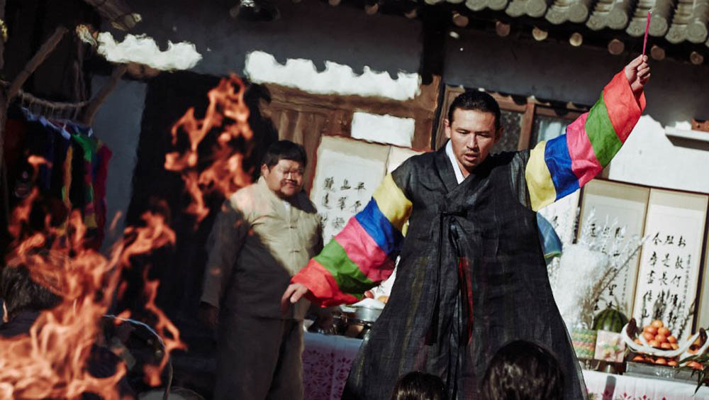 Hwang Jung-min plays a mudang, or shaman in the Korean film The Wailing.