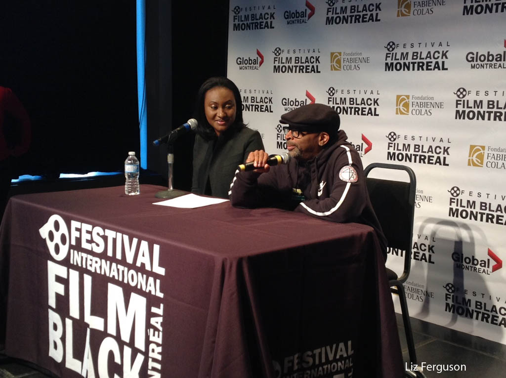 Spike Lee was a guest of the Montreal International Black Film Festival in 2014 and he's back again this year. That's festival founder Fabienne Colas next to Spike Lee. (Liz Ferguson photo)