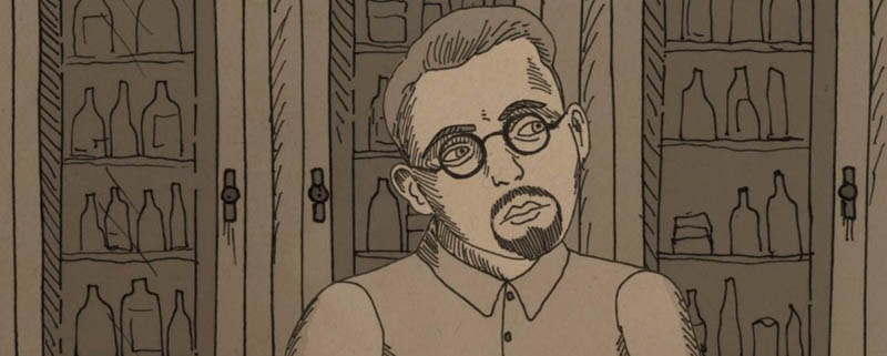 The documentary NUTS! uses animation, photos, old film footage and newspaper clippings to tell the story of medical charlatan Dr. J.R. Brinkley.