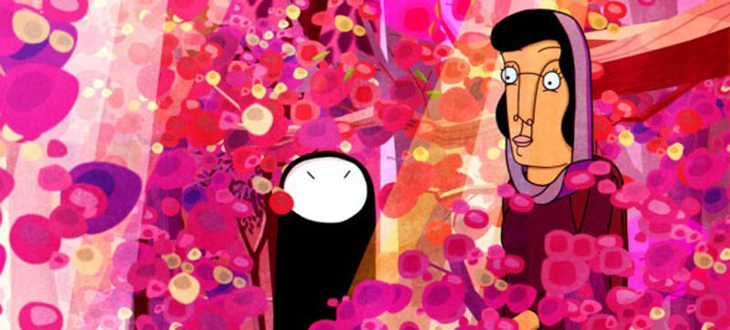 Ann Marie Fleming's animated film Window Horses: The Poetic Persian Epiphany of Rosie Ming is incredibly colourful.