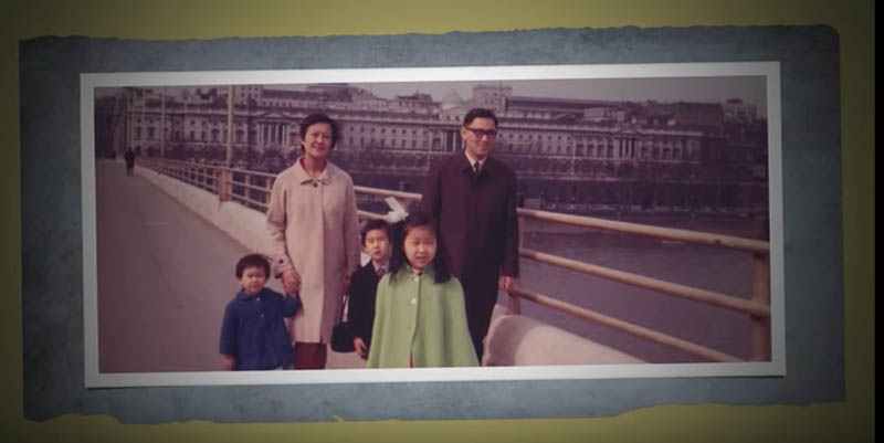 The Shigematsu family in London, before the birth of Tetsuro and his twin sister, Hana.