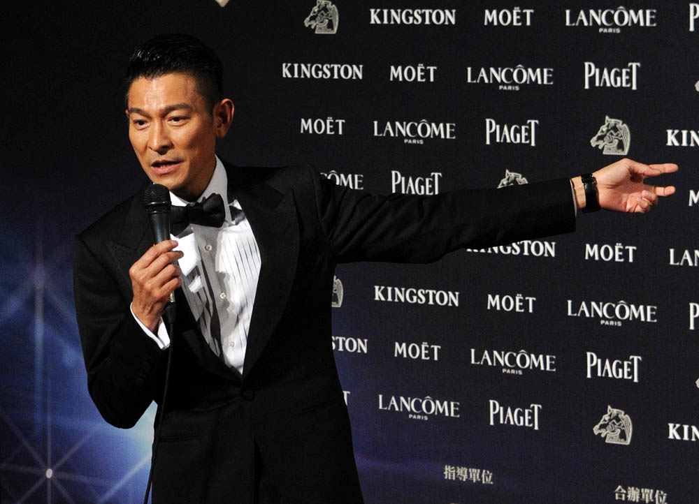 Hong Kong actor Andy Lau at the Golden Horse Film Awards in Taipei, Taiwan, November 23, 2013 AFP/Getty Images)