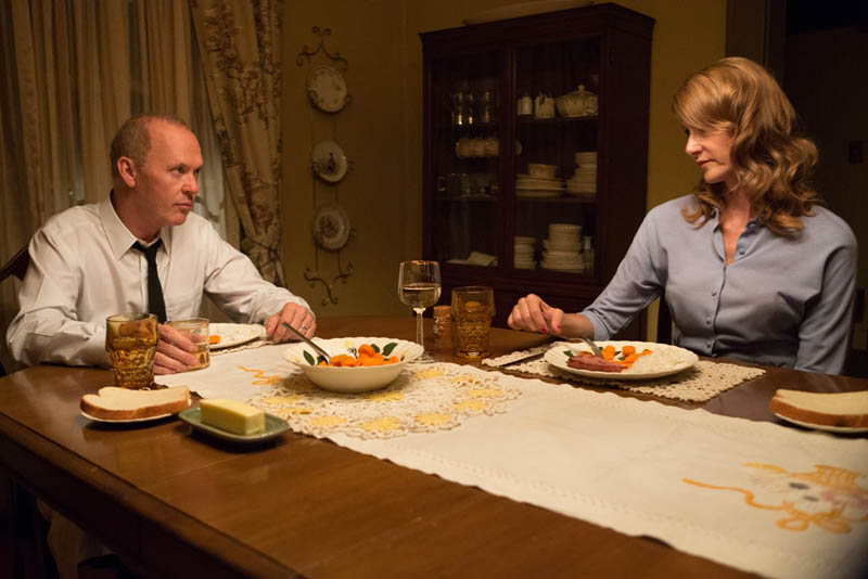 Michael Keaton as Ray Kroc, left, and Laura Dern as his first wife, Ethel. (Photo: The Weinstein Company)
