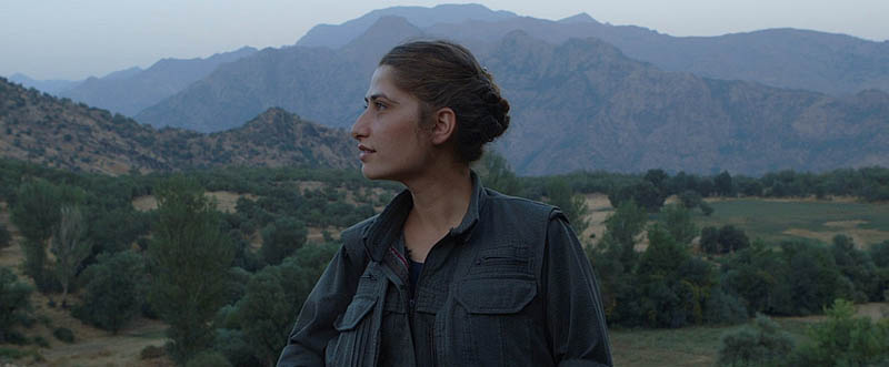 Rojen Beritan in the documentary Gulistan Land of Roses. Much of the film was shot in the mountains of Iraq.